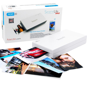 Serene Life PICKIT 20 Portable Instant Mobile Photo Printer